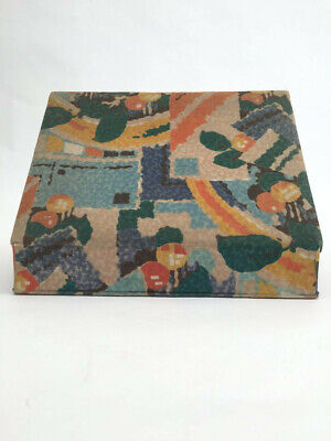 1920s box fabric covered French Art Deco design vintage antique