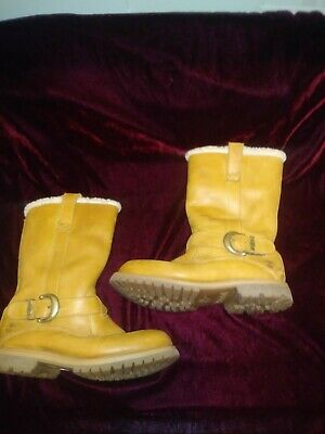 TIMBERLAND NELLIE PULL ON Leather Boots Wheat Suede 23673