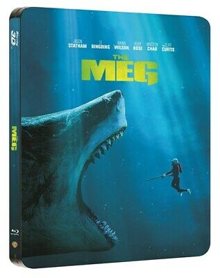The Meg (Uk Exclusive Steelbook) [Bluray 3D+Bluray+Download] New & Sealed