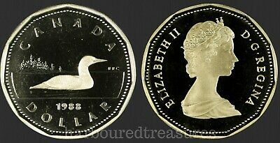 1988 $1 Canada - Proof Loonie GEM Dollar - From Mint Set UHCameo Loon