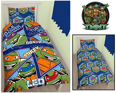 TEENAGE MUTANT NINJA TURTLES DUVET COVER SET Single Reversible Cover & Pillows