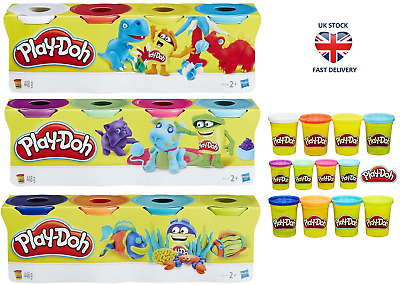 PLAY-DOH 4 PACK TUB ASSORTED COLOURS Top Up Sets Modelling Play Doh Kids Crafts