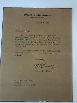 Robert F. Kennedy Signed Typed Letter.