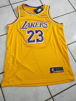 the latest 3a1de 73ab3 MEN'S LEBRON JAMES LA Lakers Basketball Jersey XL