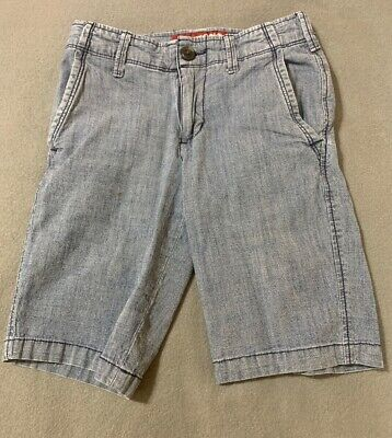 Boys Blue Cotton Shorts, Adjustable Waist by Arizona Jeans Size 8