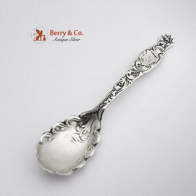 Heraldic Sugar Spoon Sterling Silver Whiting