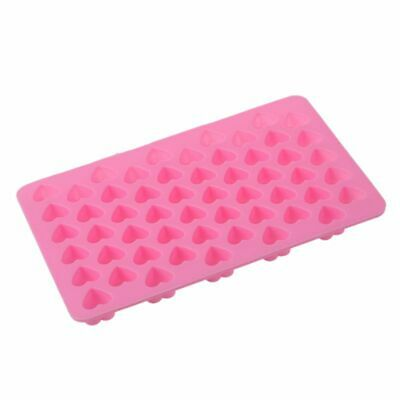 10X(1PC Mini 55 Heart Silicone Mold For Candy Chocolate Cake Soap Mould Bak T9Q4