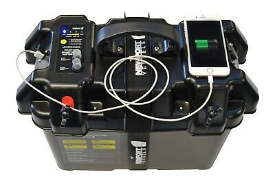 Newport Vessels Trolling Motor Smart Battery Box Power Center with USB Charger