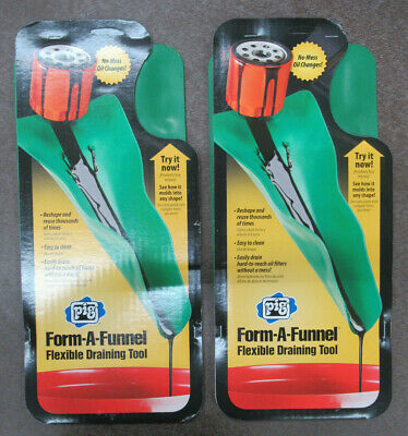 Pig 18609 / 18609-2 Form-A-Funnel Flexible Oil Draining Funnel Tool Pack Of 2!