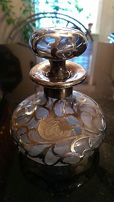 Antique Sterling and Glass Perfume Bottle