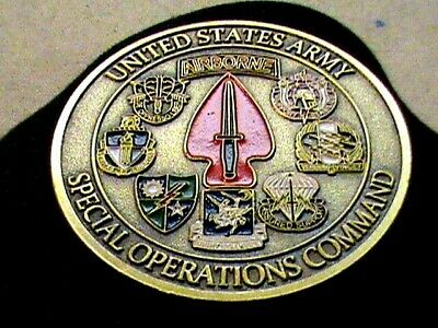 AIRBORNE~U.S.ARMY~Special Operations Command~Sine Pari~Challenge Coin