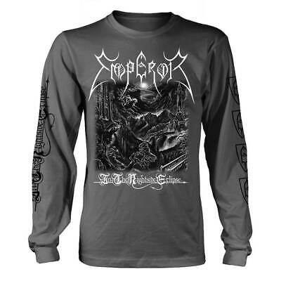 Emperor 'In The Nightside Eclipse Black/White' Charcoal Gray Long Sleeve T shirt