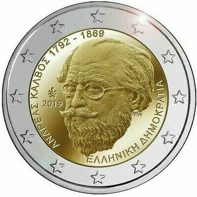 2 euro Greece 2019 - 150th anniversary of the death of Andreas Kalvos *UNC*