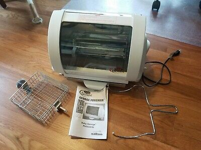 Baby George Foreman Indoor Rotisserie Grill Gr59A   With Manual