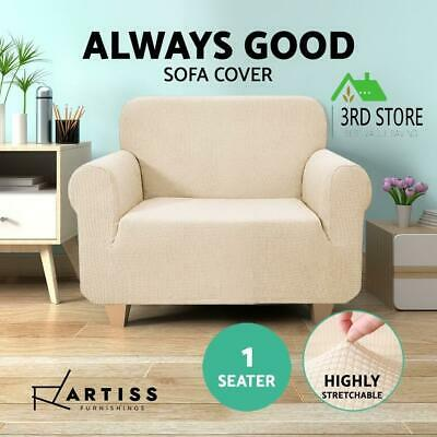 Artiss High Stretch Sofa Cover Couch Lounge Protector Slipcovers 1 Seater Sand