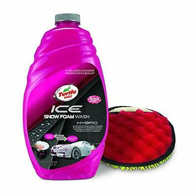 Turtle Wax 53222 ICE Snow Foam Wash & Wax with Premium Wash Mitt, 48 Fluid Ounce