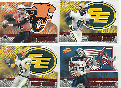 2003 Pacific Atomic CFL Red 12 card lot Anthony Calvillo Dave Dickenson