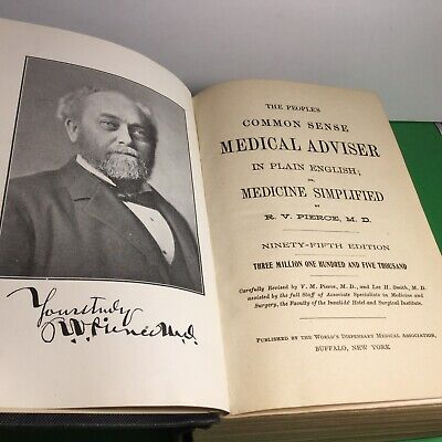 1918 Book The Peoples Common Sense Medical Adviser By Rv Pierce Md Simplified