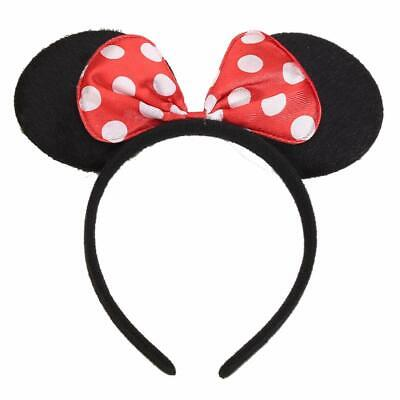 Disney Minnie Mouse Ears Headbands Bow Party Birthday Favors Costume Cute Beauty