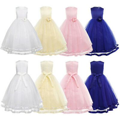 Flower Girl Princess Dress Kids Party Wedding Bridesmaid Prom Formal Gown Dress