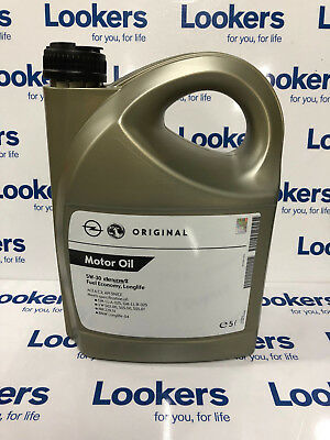 GENUINE GM CHEVROLET SAAB FULLY SYN 5w 30 ENGINE MOTOR OIL 5 LITRE DEXOS 2