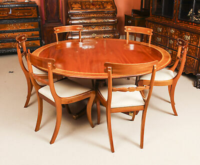 Vintage William Tillman Regency Dining Table & 6 Regency style  Chairs 20th C