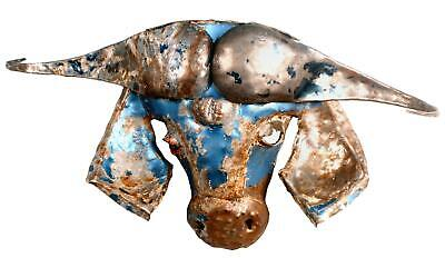 Comercio Justo South Africano Reciclado Coche Metal Animal Escultura - Bison