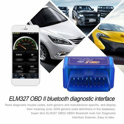 2018 Mini ELM327 OBD2 II Bluetooth Diagnostic Car Auto Interface Scanner 5f