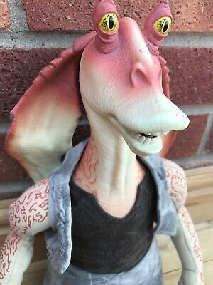 ⭐️ Official Star Wars Alarm Clock Plush Jar Jar Binks Lucas Film Jaja Retro ⭐️