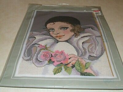Vintage Pako Tapestry Kit - Lady with Roses - New in Sealed Packet