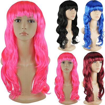 Lady 50cm Long Curly Wigs Fashion Cosplay Costume Hair Anime Full Wavy Party Wig