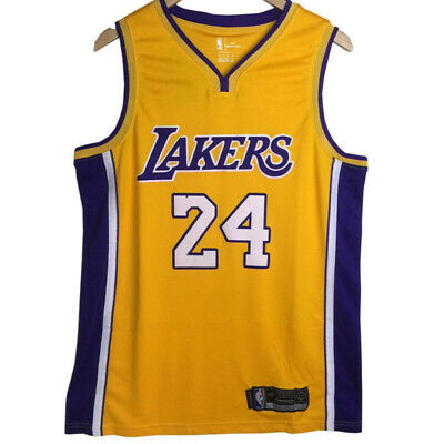 Maillot de Basketball pour Homme Kobe Bryant #24 Los Angeles Lakers Jersey Gilet