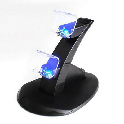 Für Playstation 4 PS4 LED Dual Controller Ladegerät Dock Station Stand Lade