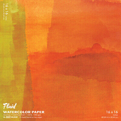 881616 Hand Book Journal Co Fluid Easy-Block Cold Press Watercolor Paper 16&...