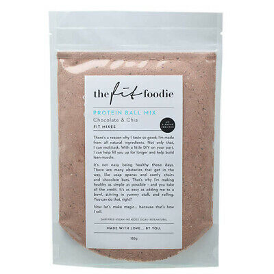 The Fit Foodie Protein Ball Mix Chocolate Chia 185g