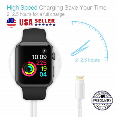 2 in 1 iWatch Magnetic Charging Cable For Apple Watch Charger & iPhone Cable USA