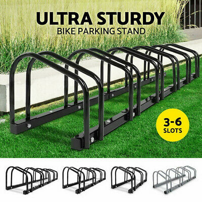 1 – 6 Bike Floor Parking Rack Instant Storage Stand Bicycle Cycling Portable New
