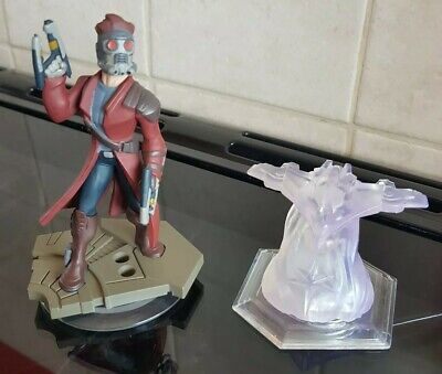 Disney Infinity 2.0 Gaurdians Of The Galaxy -Star Lord & Crystal Figures EX COND