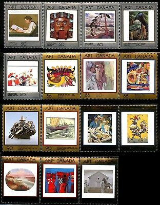 Canada Stamp #1203-1945 -Masterpieces of Canadian Art Complete set of 15 stamps
