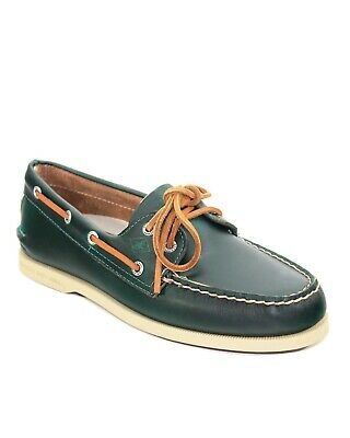 Sperry Top-Sider Men's A/O 2-Eye Navy/Teal Stitching Boat Shoe