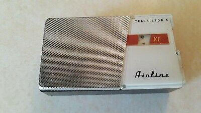 Vtg 1961 Airline 1131 Transistor radio Nice Condition Plays Well - Free Shipping