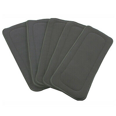 5 Layers Washable Reusable Bamboo Charcoal Fiber Cloth Nappy Insert Diaper Well
