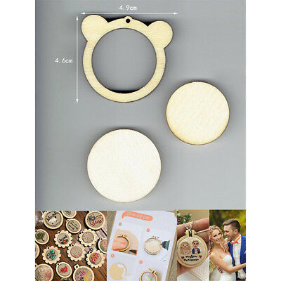 DIY Bear Shape Mini Wooden Cross Stitch Embroidery Hoop Ring Frame Machi Fixe sp