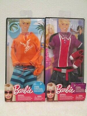 Barbie Doll Ken Fashion Pack Lot Of 2 Packs Clothes Clothing Shirt Shorts Shoes