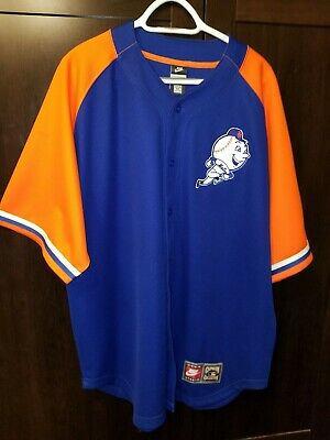 reputable site 5745a 99d01 NEW YORK METS Mr. Met Skipping Logo Team Mascot MLB Jersey ...