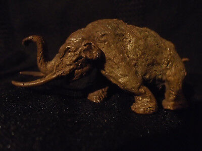 RARE ANTIQUE VIENNA BERGMAN COLD PAINTED BRONZE MAMMOTH.MASTADON  CIRCA 1920,s