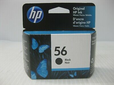 HP 56 Black Ink C6656AN New Genuine *** SHIPS OVERBOXED *** Date: March 2021