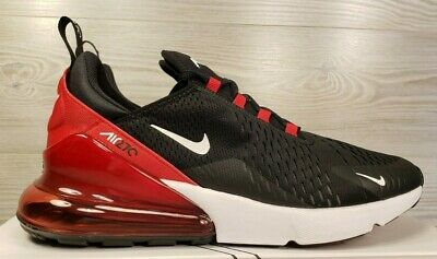 Nike Air Max 270 BRED Black Red White Running Training AH8050-022 Pick Sz
