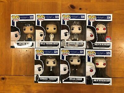 Funko POP! Movies THE TWILIGHT SAGA 7 Pc Lot EDWARD BELLA JACOB JANE