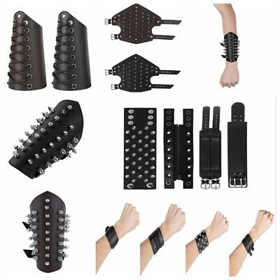 Sexy Men Women Buckles Protective Wristband Armor Cuff Bracelet Bracers Straps